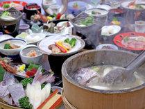男鹿名物「石焼料理」付、季節の和食膳 ※2人前イメージ
