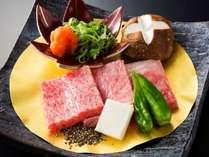 京都産牛石焼50g】陶板でお好きな焼き加減でお楽しみ下さいませ。(※プラン特典用)