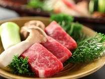 ■料理■信州産アルプス牛の陶板焼きをメインとした会席料理
