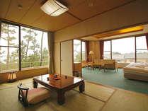 【海と富士の特別室】和洋2間つづきの角部屋。駿河湾と富士山に面しております。(最大5名様)