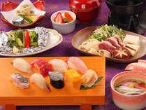 ≪お寿司食べ放題≫お寿司のほか季節味覚もご用意。「次は何を食べよう♪」
