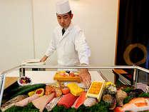 ≪お寿司食べ放題≫追加分はその場で握りたて、お召し上がり頂けます!