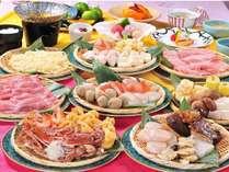 ≪鍋食べ放題≫付き基本プラン★肉類・魚介類&野菜いろいろ♪お好きなだけどうぞ!【12月~2月限定】