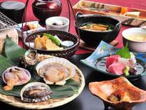 新鮮魚介浜焼きと季節会席