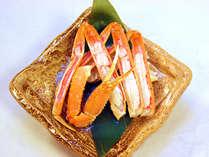 春◆カニ陶板焼き≪蟹懐石≫