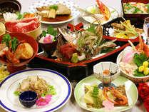 春◆もさ海老の唐揚げに赤ガレイの煮付、大山鶏のソテー、海鮮ちらし寿司など調理長イチオシ「白兎懐石」