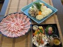 奥豊後豚しゃぶ鍋(2名様分)一例