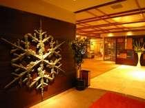 ◆雪の結晶のオブジェ:ロビー