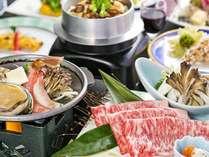 【60日前予約】★いわて牛&「アワビ&ずわい蟹」★豪華食材満喫♪デラックス和食膳【夕食はレストラン】