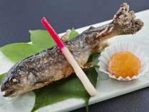 ◇追加料理 「岩魚塩焼き」