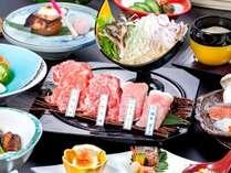 【いわて牛&八幡平ポーク】など4種のお肉を食べ比べ★豪華食材♪デラックス和食膳 【夕食はレストラン】