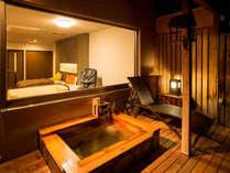 露天風呂付客室檜タイプ(陶器タイプもあり。ご指定はできかねます)