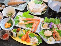【ご夕食の一例】稚内の旬鮮をふんだんに取り入れています。