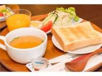 ●朝食●おおいたの老舗が作る濃厚な生クリーム食パンの洋食プレート(和食もお選びいただけます)