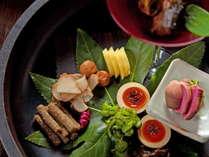 【馳走庵 -Dining Place Chisouan-】旬菜をふんだんに使った二本の葦束のお料理