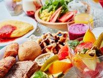 朝食ブッフェ(一例)/和・洋・琉から選べる日替わり朝食ブッフェ。