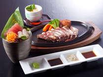 【熊野牛《くまのぎゅう》サーロインステーキコース】柔らかな肉質と、染み出る旨味♪