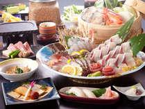メイン食材は月替り 春の旬彩 地魚絵巻 三部作 ~2月は寒鰤を食す~