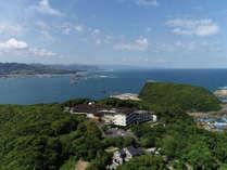 空から望む休暇村南紀勝浦