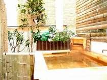 24時間いつでも檜風呂でゆっくりできます