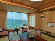 1~4名までの少人数用8畳タイプ本館和室(大徳館)眺望はもちろん海!