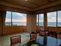 3部屋のみ!!14畳+4.5畳付本館大部屋和室(大徳館)角部屋になるので窓が多く、眺望は最高!