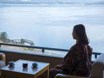 お部屋から眺める和倉の海。
