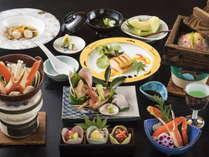 創作料理風にアレンジした「蟹づくし」をお楽しみください。
