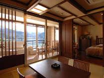 【◎河口湖側◎】半露天風呂付特別室でございます(一例)