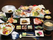 【グレードアップ】国産牛のステーキやアワビに蟹などの贅沢コース
