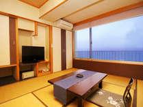 【一般和室】スタンダードな部屋タイプの和室6畳☆オーシャンビュー(バストイレ付+洗面付)