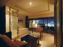 メゾネットルームの一例(82㎡)客室が1階と2階に別れた豪華な特別室