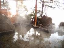 *【露天風呂】100%源泉かけ流しの天然温泉。