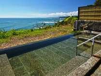 【新露天風呂】太平洋とその先の室蘭を望む