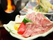 A5ランク豊後牛の陶板焼きステーキ/料理例