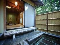 露天風呂付客室(和室8畳+6畳)5名までご利用可(1日2室限定)