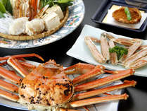 ≪1番人気≫茹で蟹一匹!・蟹刺し・焼きかに・お刺身・蟹鍋で勢ぞろい ~お部屋食~ [1泊2食付]