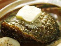 アワビのバター焼き。肉厚で繊細な甘みとコリコリとした歯ごたえをお楽しみください。栄養も満点です!