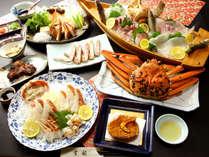 旬の舟盛までいただける豪華絢爛コース☆冬の日本海の味覚を隅々まで味わうことができます。