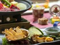 ちょっと贅沢なご夕食を~アワビと国産牛の和食膳(イメージ)