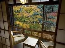 【本館客室】客室からの庭の紅葉