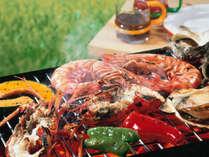 神鍋高原の綺麗な空気の中で当館厳選の食材をたっぷり◎海鮮BBQ(画像はイメージです)