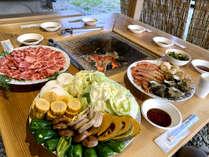 神鍋高原の綺麗な空気の中で当館厳選の食材をたっぷり◎海鮮BBQ