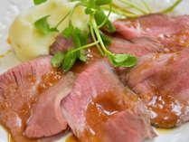 *【夕食メイン】しっとりやわらかなローストビーフ