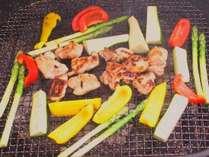 野菜・お肉がたっぷり自然の中でバーベキュー♪