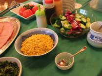 ☆朝食はバイキング形式:サラダのトッピングです。(メニューは一例です)