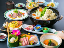 コニファーいわびつの料理一例:旬と郷土の味をお楽しみいただく創作和会席膳