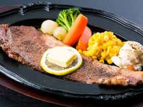 特別注文料理:上州牛のステーキはご当地グルメとして、ぜひご賞味ください♪