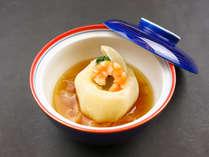 1月~2月 遇数日の夕食一例:煮物 蕪釜玉蒸し
