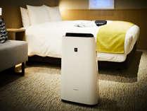 【客室】全室Wi-Fi・有線LAN無料。加湿空気清浄機や個別空調も備え快適な空間を演出
